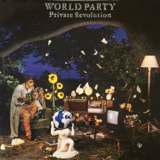 World Party - Private Revolution (LP) (VG/VG)
